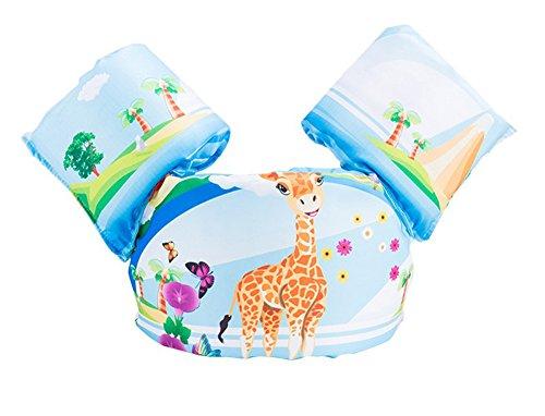 SoftWolf 2-6Y Children 3D Cartoon Learn To Swim Life Jacket (Giraffe)