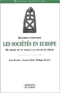 Les sociétés en Europe au VI-IXe siècles par Jean Heuclin