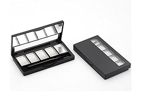 VNDEFUL Empty Eyeshadow Containers with 5 Aluminum palettes Pans,DIY Eye Shadow Pigment Tray Holder Case For Women Girls Makeup