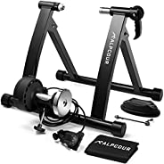 Alpcour Bike Trainer Stand – Portable Stainless Steel Indoor Trainer w/ Magnetic Flywheel, Noise Reduction, 6