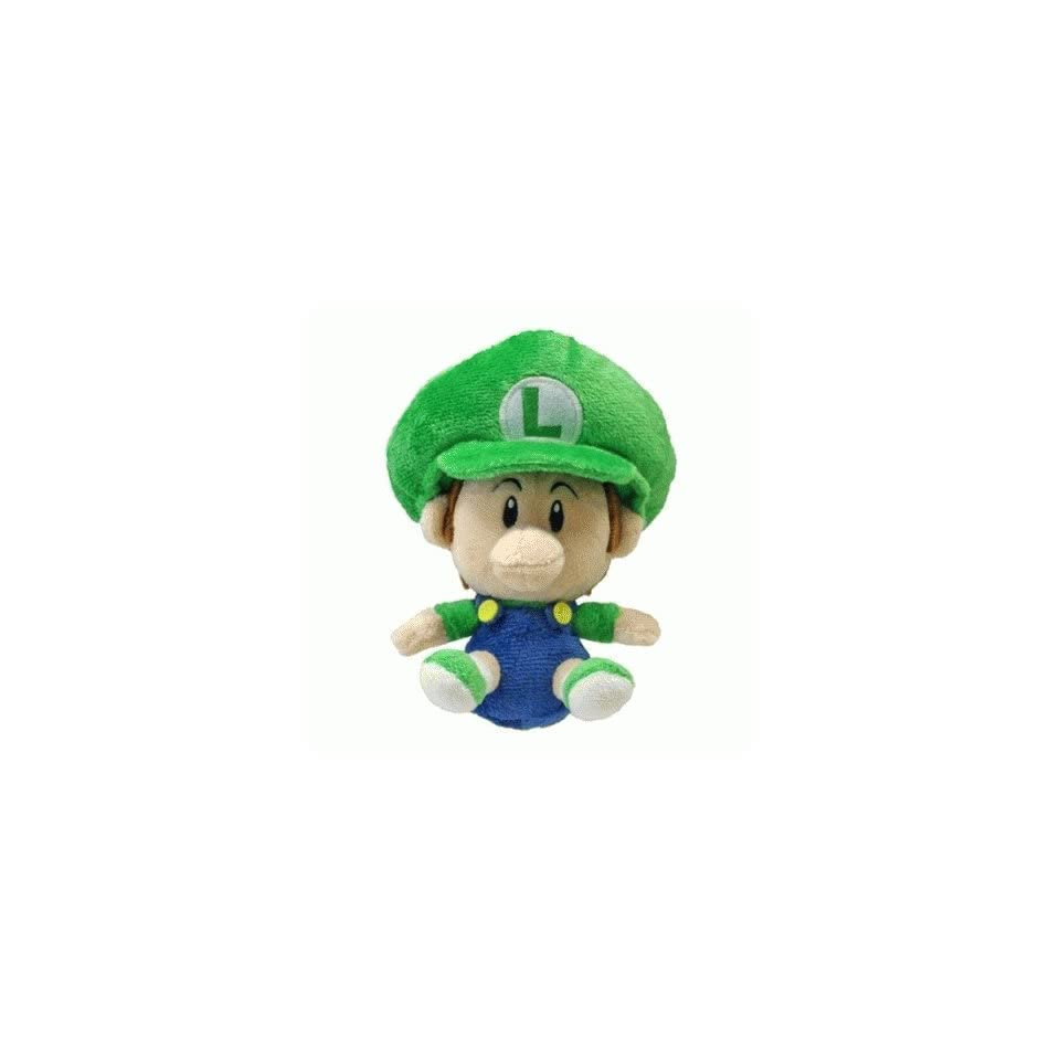 5.5 Official Sanei Baby Luigi Soft Stuffed Plush Super Mario Plush Series Plush Doll Japanese Import