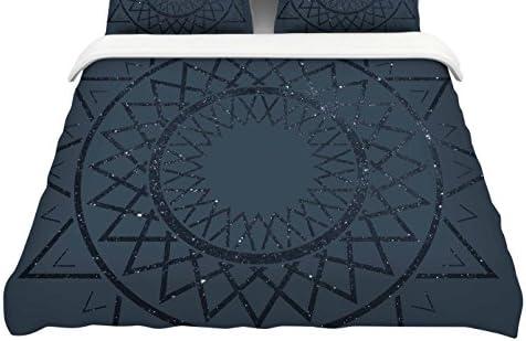Kess InHouse Matt Eklund Lunar Sundial Featherweight Queen Duvet Cover 88 x 88,