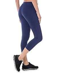 SYROKAN Women's Activewear Running Workout Sports Capri Leggings Pants