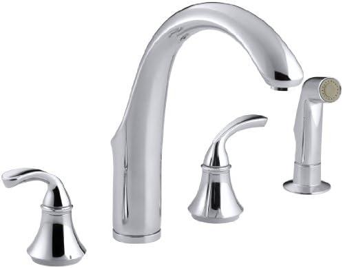 KOHLER K-10445-CP Forte Widespread Kitchen Faucet, Polished Chrome