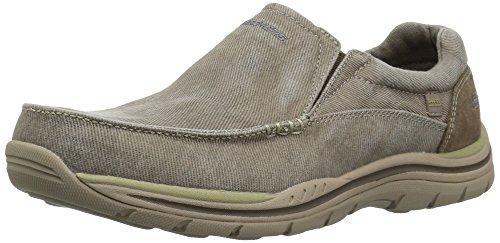 Skechers previsto Avillo uomo Casual scivolare sulla scarpa Khaki