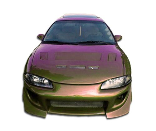(Duraflex ED-OST-684 Blits Front Bumper Cover - 1 Piece Body Kit - Compatible For Mitsubishi Eclipse)