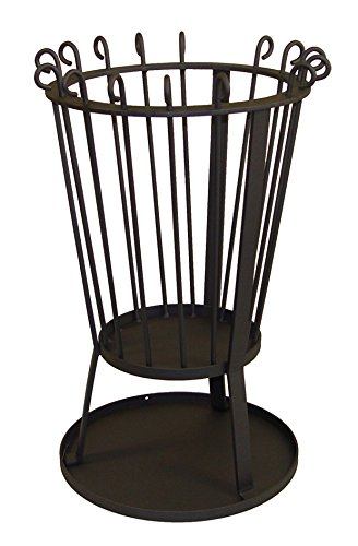 IMEX EL ZORRO Estufa de leña para Exterior, diámetro 33 x 41 cm Negro 71460: Amazon.es: Jardín