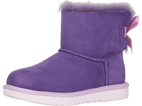 UGG Girls' K Mini Bailey Bow II Fashion Boot, violet bloom, 5 M US Big Kid