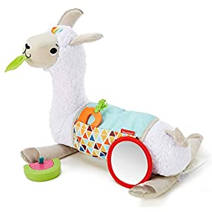 Fisher-Price Mon Coussin d'éveil Lama en peluche avec 3 jouets amovibles, jeu sur le ventre et assis, dès la naissance…