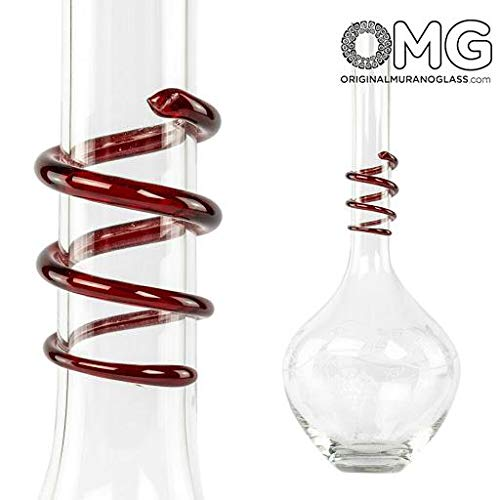 Original Murano Glass OMG Decanter Chianti - Blown Glass - with Elegant Engraving