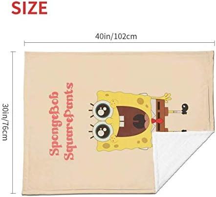 shihuainingxianruandans Couverture de bébé de Confort, Couverture Chaude Douce de Spongebob pour Le Voyage de Poussette Nouveau-né Infantile en Plein air