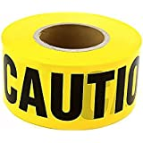 "Hardex Yellow ""Caution"" Barricade Tape 3"" X 1000' • Flashing Yellow color captures attention easily • Block Black Lettering • UV Resistant and Tear Resistant Design"