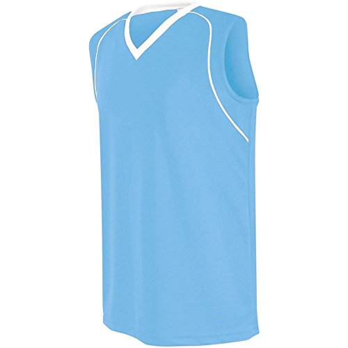 (High Five Flex Jersey-Womens,Columbia Blue/White,Large)