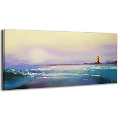 100% TRAVAIL FAIT À LA MAIN + certificat / Le tableau est dessiné par les couleurs acryliques Chemin à la maison / tableaux sur la toile avec sous-cadre en bois naturel / tableau fait à la main / f
