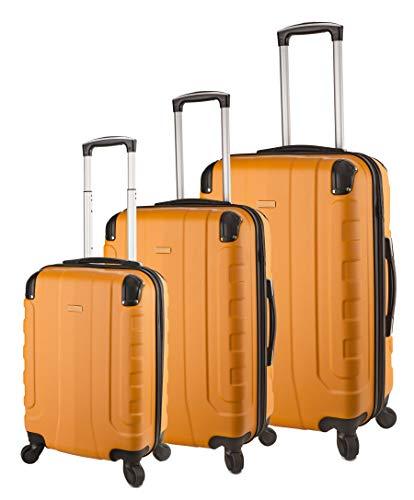 TravelCross Chicago Luggage 3 Piece Lightweight Spinner Set - Orange