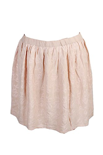(Lucky Brand Womens Embroidered Ruched A-Line Skirt Pink L)