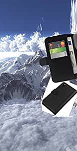 """A-type (Mont Blanc"""") Colorida Impresión Funda Cuero Monedero Caja Bolsa Cubierta Caja Piel Card Slots Para Sony Xperia Z3 D6603"""