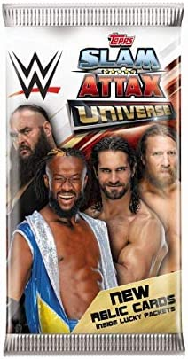 Topps FS0000695DI Slam Attax - Carte da collezione, WWE, 36, 5 per booster, 1 scheda di memoria per display, multicolore