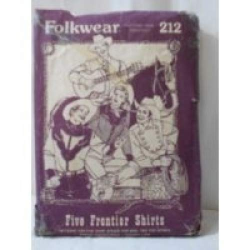 Folkwear 212, Five Frontier Shirts Pattern, Cowboy Western, Mens Size 36 to 46, Womens Sizes 8 to ()