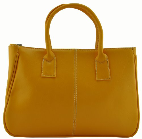 Ginkgo Fashion Women Korea Simple Style PU leather Clutch Handbag Bag Totes Purse Yellow, Bags Central