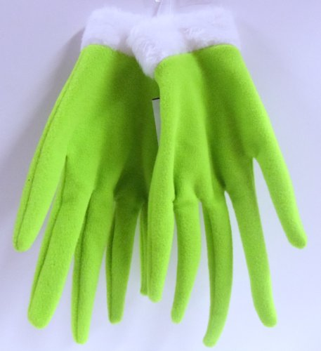 Dr. Seuss The Grinch Who Stole Christmas Universal One Size Fits All Dress Up Costume Cosplay Grinch Hand Glove Set