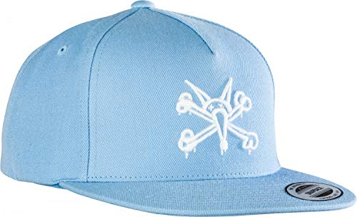 Powder Blue Wool (Powell Peralta Vato Rat Bones 3 Snapback Skateboard Hat - Powder Blue)