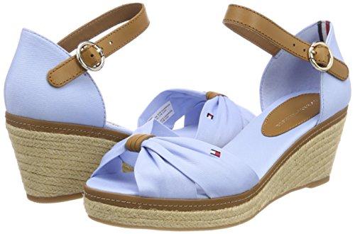 407 Sandal Blue Hilfiger Tommy Bleu Femme chambray Espadrilles Iconic Elba a7WOS