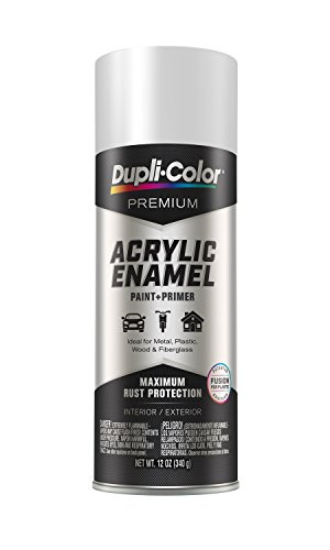 EPAE11100 Dupli-Color Flat White Premium Acrylic Enamel Spray Paint 12 oz, 6 Pack 1