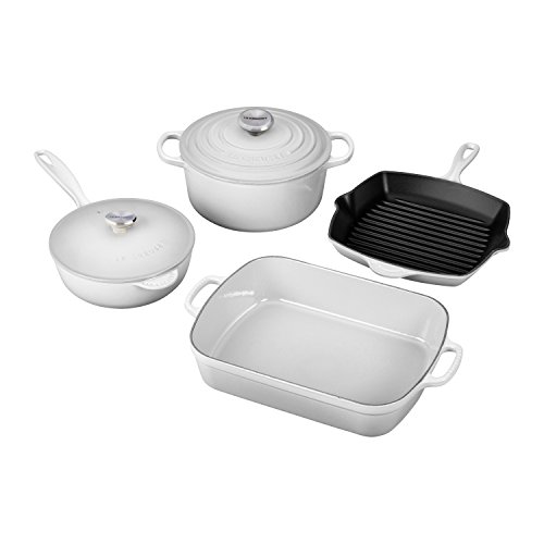 Le Creuset MS1406-16SS 6 Piece Signature Set, White