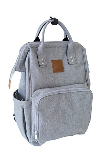 Citi Babies Grey Water Resistant Diaper Bag Backpack