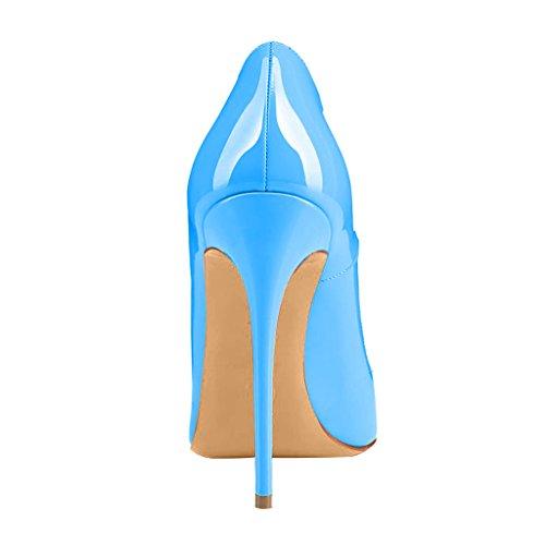 Scarpe 12cm A Donna F Blu Scivolare Calaier Su Cahen Col Tacco Spillo Calzature Cq8IwIE