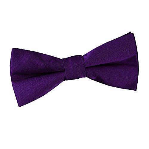 Boys Pre Satin Tuxedo Purple Wedding DQT tied Plain Tie Bow Formal UwdOFqCx
