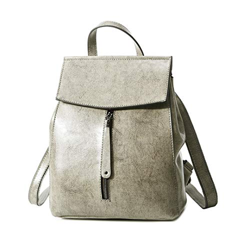 - Women Genuine Leather Backpack Shoulder School Bags For Teenagers Travel Oil Wax Cow Female Knapsack Bag