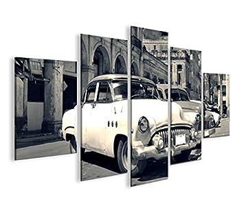 Bild auf Leinwand Taxi Cuba V2 Havanna MF XXL Poster Leinwandbild Wandbild