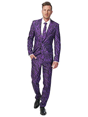 Halloween Parties In Miami (Suitmeister - Pimp Tiger - Halloween Suit for Men in Stylish Print - Full Set: Includes Jacket, Pants and Tie -)