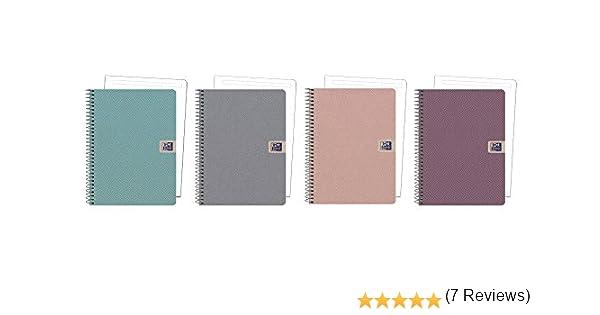 Oxford 400102376 - Pack de 5 cuadernos microperforados, A5+: ...