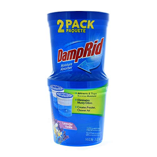 DampRid Lavender Vanilla Refillable Moisture Absorber - 10.5oz cups - 2 pack – Traps Moisture for Fresher, Cleaner Air