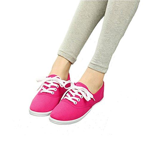 Caro Tempo Scarpe Di Tela Color Caramella Casuale Rosa