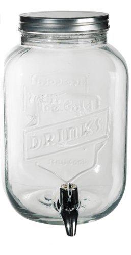 Tarro de cristal para dispensador de bebidas dispensador de zumo de cóctel bebida grifo de agua (3.5Ltr Wilsons directa 1 x 3.5L Glass Dispenser: Amazon.es: ...