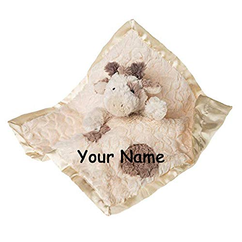 Mary Meyer Personalized Putty Nursery Baby Giraffe Character Lovey Blanket Snuggle Blanky with Custom Name - 13 -