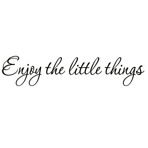 (Enjoy The Little Things Vinyl Wall Decal Saying Family Room Quotes Sayings Stickers Wall Decor)