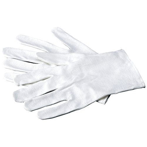 Dermatological Cotton Gloves - Carex Health Brands Soft Hands Cotton Gloves Large