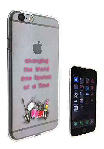 c0158 - Make Up Lipstick Quote Changing the World Design Pour iphone 5C Protecteur Coque Gel Rubber Silicone protection Case Coque