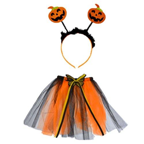 Cute Halloween Costume with Tutu and Headband