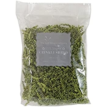 The Gift Wrap Company Recycled Paper Crinkle Shred, Green Tea
