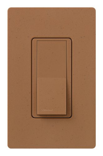 Lutron Claro On/Off Switch, 15-Amp, Single-Pole, SC-1PS-TC, Terracotta