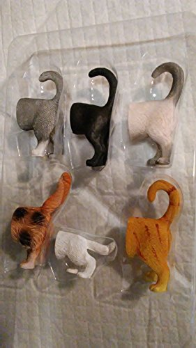 Cat Tail Butt Magnets PRICED TO SELL by Desert Kat Gifts 6-Pack