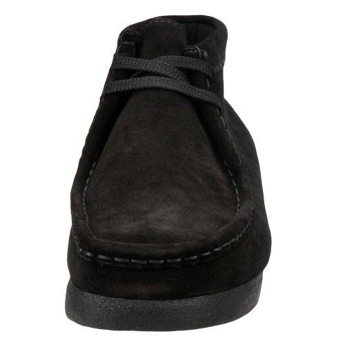 [padmore-30258] Clarks Premium Crêpe Chaussures Pour Hommes Clarkssteel Bluem Cuir Noir
