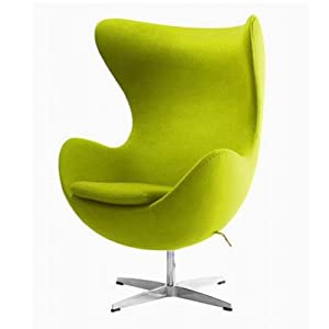 uka073m luxurious arne jacobsen style egg chair mustard cashmere wool fabric arne jacobsen style egg