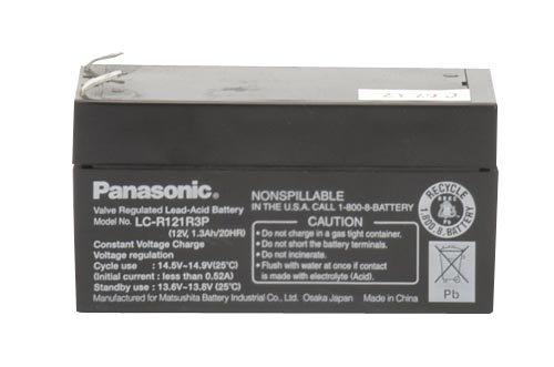 Panasonic LC-R121R3P Black Medium 12V 1.3Ah VRLA Battery with F1 Terminal